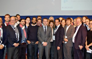 La photo de groupe avec Nicolas Hulot. Crédit: Frédéric Hastings