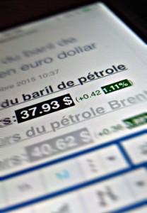 Le prix du baril affiché hier sur le prixdubaril.com. Photo: PHB/Coopetic