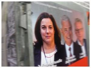 Affiche présentant Emmanuelle Cosse pour le 2e tour des régionales. Photo: PHB/Coopetic