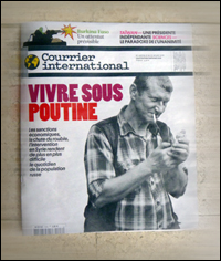 Lu dans Courrier International daté 21 au 27 janvier 2016. Photo: PHB/JDC