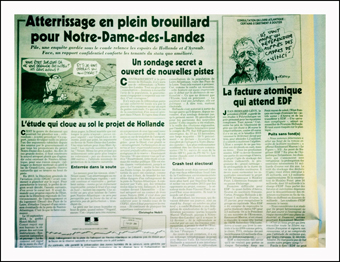 L'article du Canard Enchaîné sur Notre-Dame-des-Landes. Photo: PHB/JDC