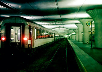 Train de nuit au départ d'Austerlitz. photo: PHB/JDC