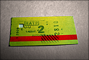 Ticket de métro. Photo: PHB/JDC